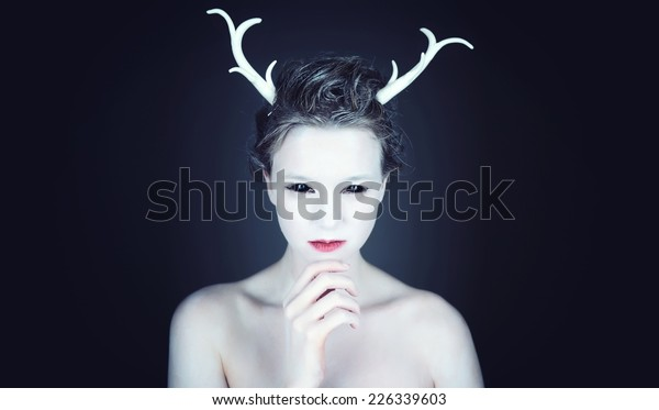 cbb25d51619 Halloween Makeup Alien Stock Photo (Edit Now) 226339603