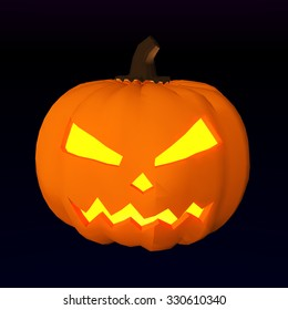 Halloween Party Design template, with pumpkin