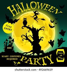 Halloween party. illustration