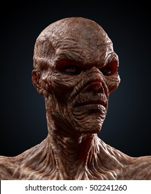 """Halloween Portraits : My friend """"Wrinkles"""" the zombie. Regal Portrait. Highly detailed 3D render."""