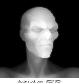 Halloween Portraits : The Spectre. 3D rendered depth map.