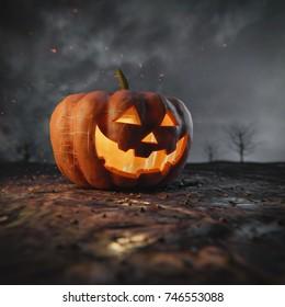 Halloween Pumpkin / 3D illustration