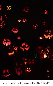 Halloween pumpkin background. Vertical composition.