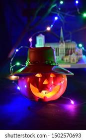 Halloween pumpkin head Jack, Happy Halloween day