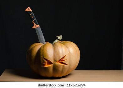 Halloween pumpkin knife