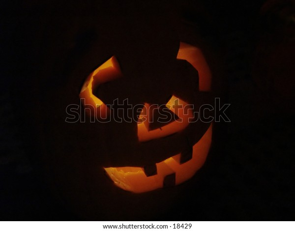Halloween Pumpkin lite up in the dark