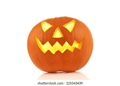 halloween pumpkin on a white background