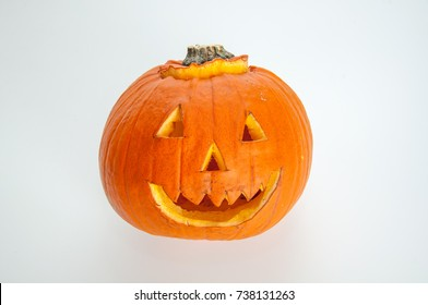 halloween pumpkin on white background