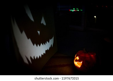 Halloween pumpkin projection