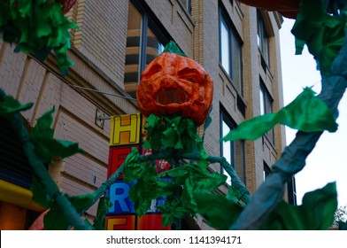Halloween Pumpkin Puppet At Parade