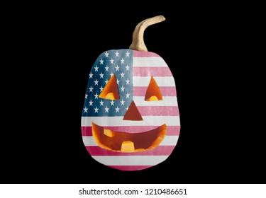 Halloween Pumpkin with USA flag