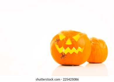 Halloween Pumpkins, isolated on white