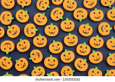 Halloween pumpkins Jack o lantern seamless background