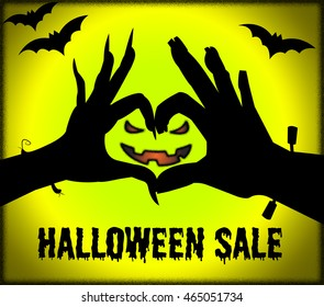 Halloween Sale Showing Trick Or Treat And Save Promotional