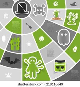 Halloween sticker infographic