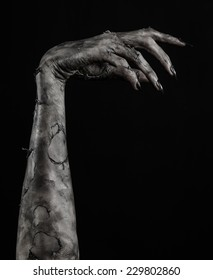 Halloween theme: terrible zombie hand with black nails