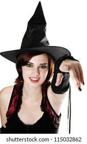 halloween witch pointing on you