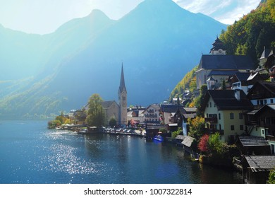 Hallstatt, Austria, the nice place village in the Austrian Alps.
