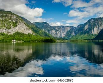 Hallstatt - beautiful Alpine paradise village in the lakeside, Austria