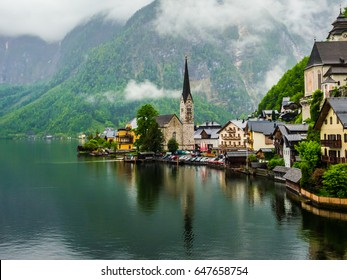 Hallstatt is a village on Lake Hallstatt's western shore in Austria's mountainous Salzkammergut region. This church is the symbolic of this village. The morning time is the best time to visit.