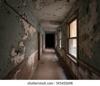 Hallway of a former hotel