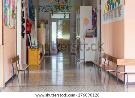 hallway of a nursery preschool for children