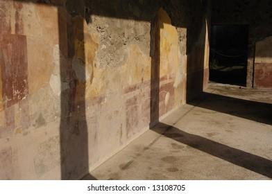 hallway at Pompeii Italy