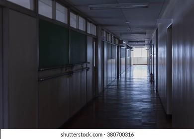 Hallway in the school