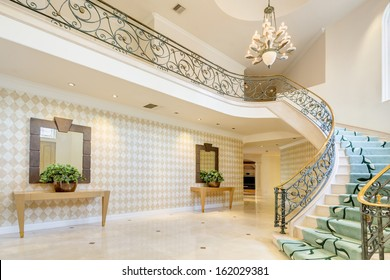 Hallway and stairway in a luxury house