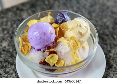 halo halo, Filipino summer dessert