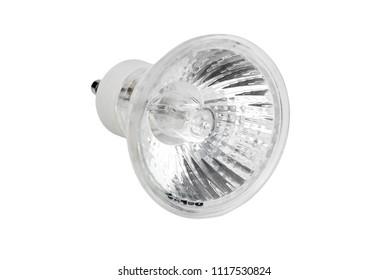 Halogen lamp G10 type, isolated on white background