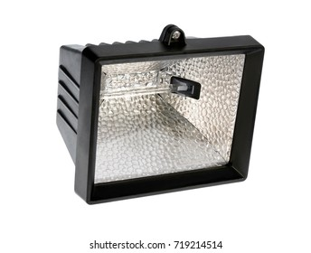 Halogen lamp on a white background