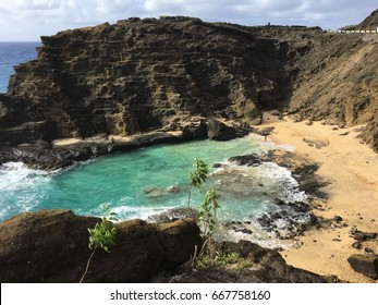 Halona Blowhole in Oahu, Hawaii