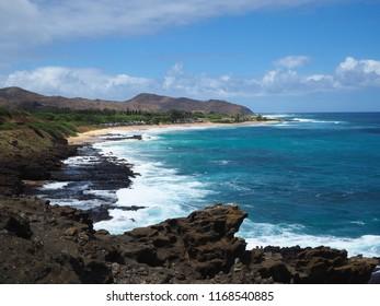 Halona Blowhole outlook, Oahu
