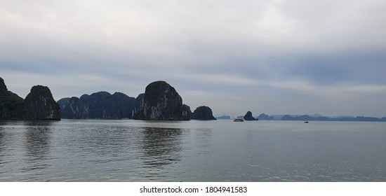 Halong Bay, Vietnam with beauiful scenery