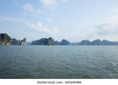 HALONG BAY, VIETNAM. Ha Long Bay is a UNESCO World Heritage Site in Vietnam.