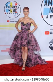 Halsey at the 2018 American Music Awards held at the Microsoft Theater in Los Angeles, USA on October 9, 2018.