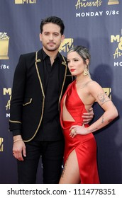 Halsey and G-Eazy at the 2018 MTV Movie And TV Awards held at the Barker Hangar in Santa Monica, USA on June 16, 2018.