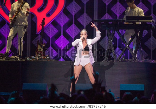 Halsey performs at the Power 96.1 iHeartRadio 2017 Jingle Ball in Atlanta Georgia on December 15th 2017 at the Phillips Areana