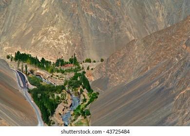 Halsi Village in Ladakh India