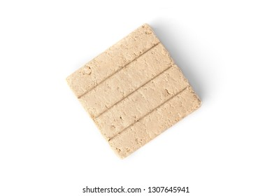 Halva with peanut isolated on white background.