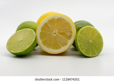 halved lemons and limes