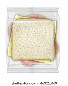 Ham and cheese sandwich packaging