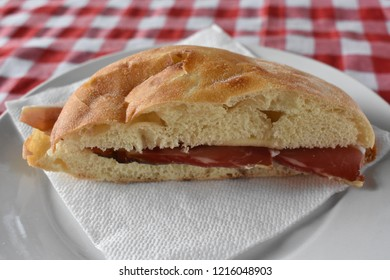 Ham and cheese sandwich in the Slovenian countryside
