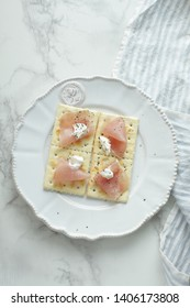 Ham and cream cheese for party food image