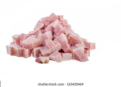 Ham Cubes isolated on white background