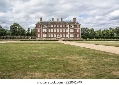 """Ham House (1610), located alongside the River Thames in Richmond, UK. It is claimed by the National Trust to be """"unique in Europe as the most complete survival of 17th century fashion and power""""."""