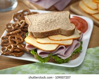 Ham & Muenster Cheese Sandwich