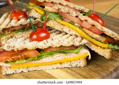 Ham Panini Italian grilled sandwich