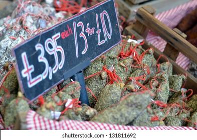 Ham for sale at Borough Food Market, London